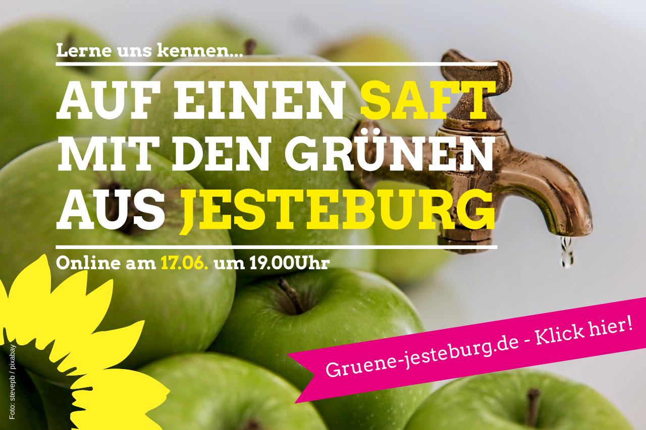 Auf einen Saft mit den Grünen am 17.06. um 19.00 – online & digital